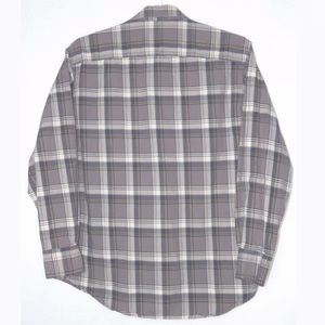 Timberland Button Plaid Shirt Lrge Gray Multicolor